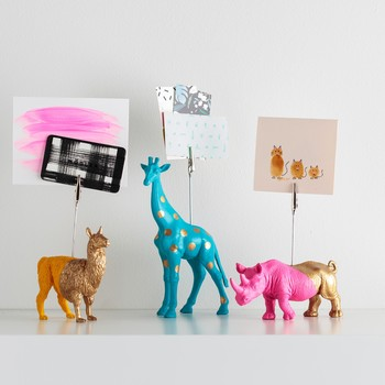 Gilded Animal Note-Holders