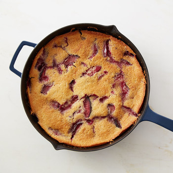 Martha's Plum Skillet Cake