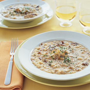Roasted-Garlic Risotto with Mushrooms