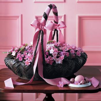 African Violets Basket