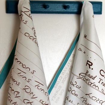 Tea Towels Made From Handwritten Recipes