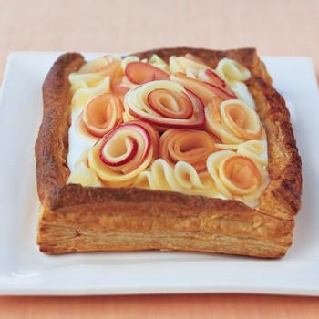 Buttermilk Cream Tart with Apple Roses