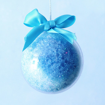 blue bath bomb ornament
