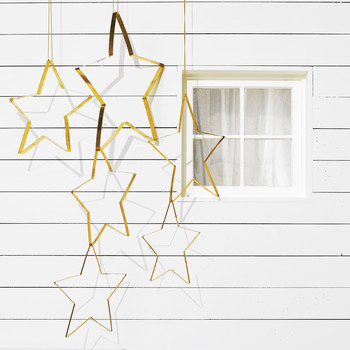 Brass Star Ornaments