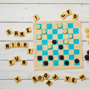 word games and checkers cookie