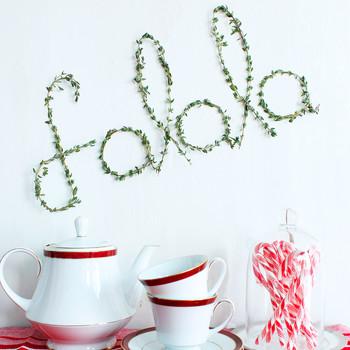 """""""fa la la"""" christmas wreath"""