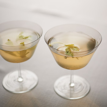 Celery French 75 Cocktails