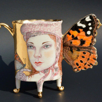 irina zaytceva art woman butterfly