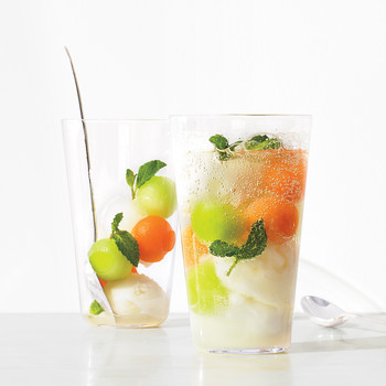 Refreshing Melon-Sorbet Float