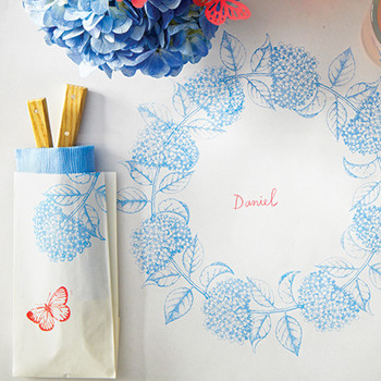 Stamped Paper Tablecloth for Summer