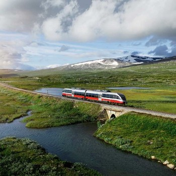 arctic train in Norway