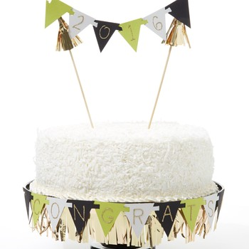 Pennant Cake Topper for Personalized Messages