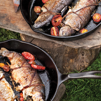 Skillet-Fried Trout with Herbs and Tomatoes