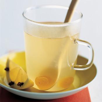 Hot Honey Lemonade with Ginger