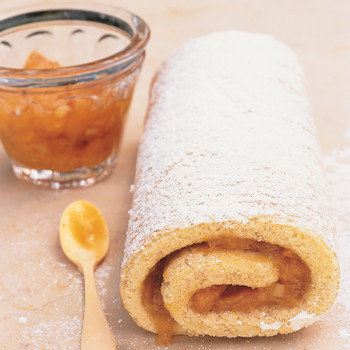 Apricot and Walnut Roll Cake