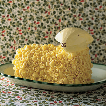 White-Chocolate Buttercream for Lamb Cake