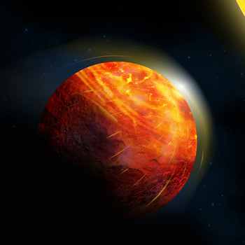 artist impression of the lava planet K2-141b