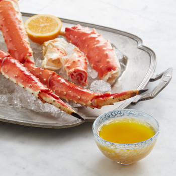 Alaska King-Crab Legs with Meyer Lemon-Miso Butter
