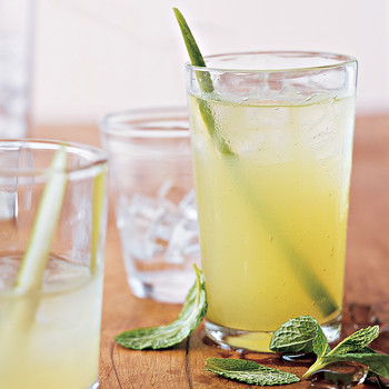 Mint, Cucumber, and Vodka Cocktails