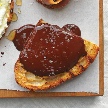 Melted Chocolate with Fleur de Sel Bruschetta