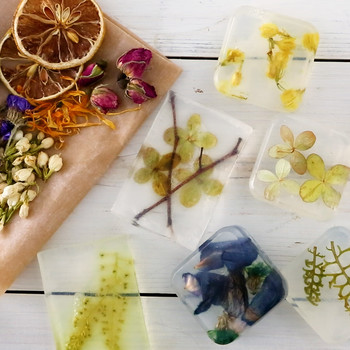 DIY Pressed Flower Bar Soap How-To