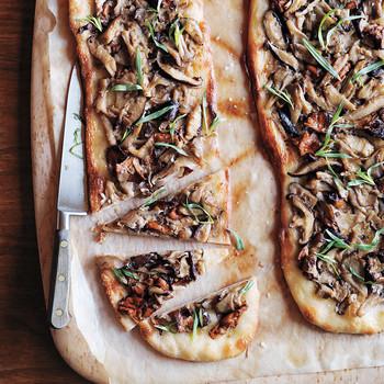 Wild-Mushroom Pizza