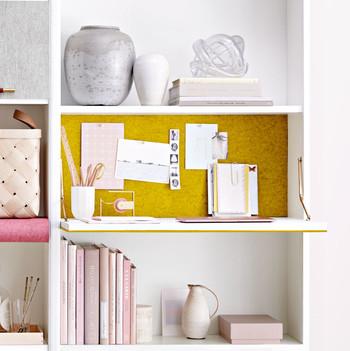 pull down desk on bookshelf