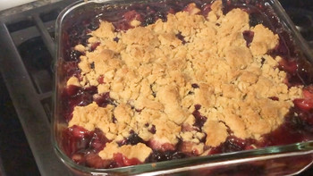 Rhubarb and Mixed Berry Crisp