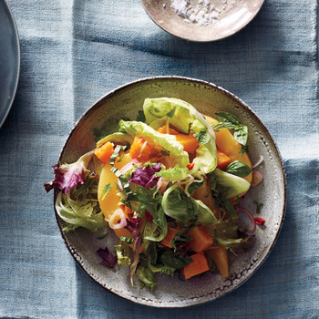Spicy Squash Salad with Ginger-Lime Dressing