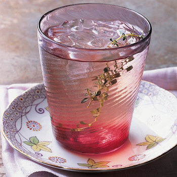 Iced White Tea With Black-Currant Cordial