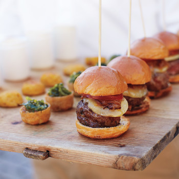 Mini Burgers with Caramelized Onions