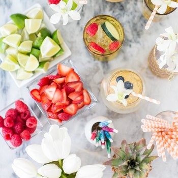 A Simple, No-Fail Way to Set Up a Party Drink Station