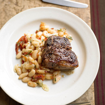 Lamb and White Beans with Rosemary
