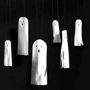 Hanging Paper Ghosts
