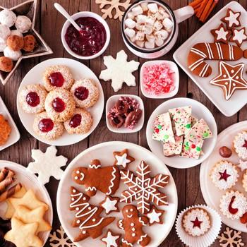 assortment of holiday treats