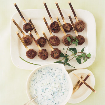 Lamb Koftas with Cucumber Raita