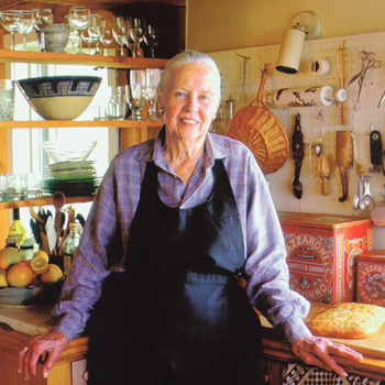 Marion Cunningham in the kitchen