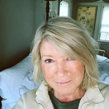 Martha Stewart with no-makeup