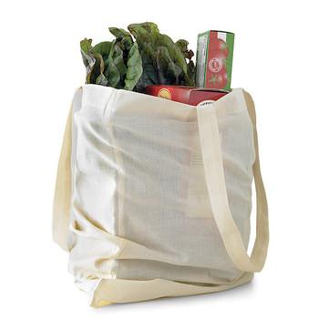 groceries in reusable bag vegetables