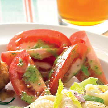 Tomato Salad with Parsley Vinaigrette