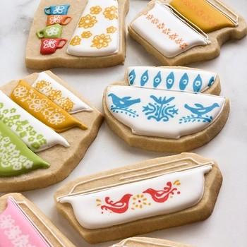 Morgan G. Cookies pyrex inspired cookies