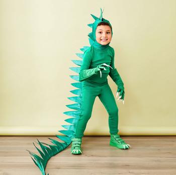 恐龙服装的孩子