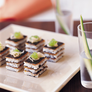 Nori Stacks with Smoked Salmon