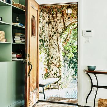 open door of living room