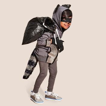 kid raccoon costume