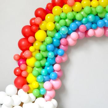 气球彩虹拱工艺