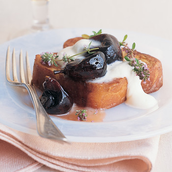 Thyme-Roasted Figs over Brioche Pain Perdu
