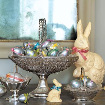 Metallic Polka-Dotted Eggs