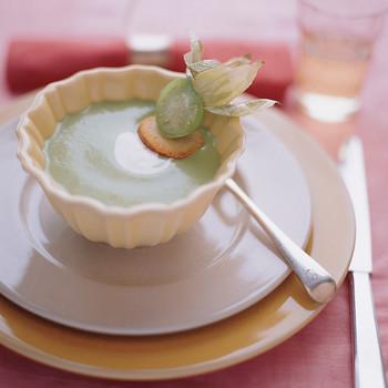 Avocado, Cucumber, and Tomatillo Soup