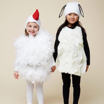 鸡肉羊肉万圣节孩子们的服装